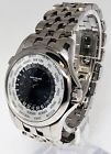 Patek Philippe Mens World Time Watch 18k White Gold Box/Papers 5130/!G-011