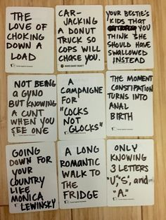 Image of: Answers Awesome And Hilarious Funny Ideas To Write On Blank Cards For Cards Of Humanity Diy Own Cards Of Humanity Deck Kickstarter Hilarious Ideas For Blank Cards In Cards Against Humanity Game Or