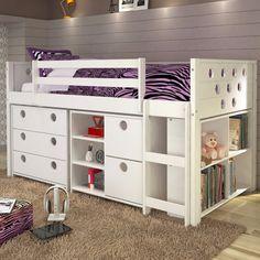 Loft Bed Storage Ideas 18 pics of beautiful kids rooms from pinterest | mini loft, forts