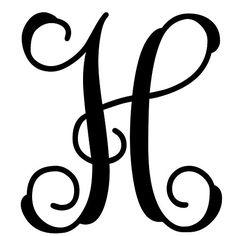 Custom Decor Initial It  H Vine Monogram  125 in 1947 *** For more information, visit image link.