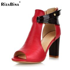 33.59$  Know more - http://aiblu.worlditems.win/all/product.php?id=32731961825 - Size 32-43 Women's Genuine Leather High Heel Sandals Fashion Lady Shoes Female Real Natural Leather Summer Heels Sandals R233