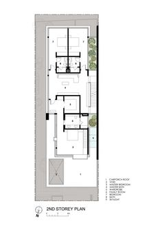 Image 19 of 20 from gallery of Far Sight House / Wallflower Architecture + Design. Second Floor Plan The Plan, How To Plan, Attic Renovation, Attic Remodel, Semi Detached, Detached House, Villa Design, House Design, Architecture Design