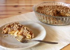 Jablkový crumble - recept Apple Pie, Cereal, Oatmeal, Food And Drink, Pudding, Baking, Breakfast, Recipes, Fitness