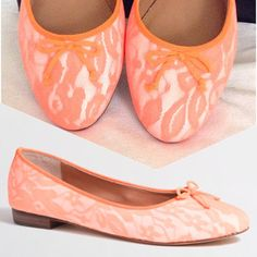 """J. Crew Uptown Ballet Flat Neon lace uptown ballet flat , Brand new  still in box with original wrapping - never worn. Pictures of actual shoes will follow. ❤️Bundle & Save 15%❤️Please use the """"OFFER BUTTON"""" for offers. J. Crew Shoes Flats & Loafers"""