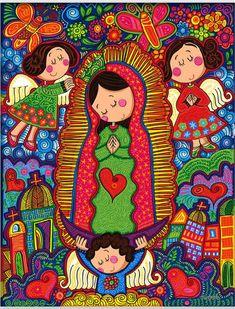 photo by lindavista Catholic Art, Catholic Saints, Religious Art, Madonna, Mama Mary, Mexican Folk Art, Blessed Mother, Mother Mary, Sacred Art