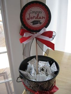 High School Graduation Decoration Ideas | Graduation Centerpiece - Grad party decoration -high school - college ...