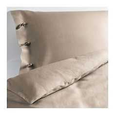 LINBLOMMA Duvet cover and pillowcase(s) - Full/Queen - IKEA - nothing says beach quite like linen.