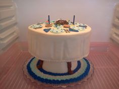 Thanksgiving Table Cake 2012