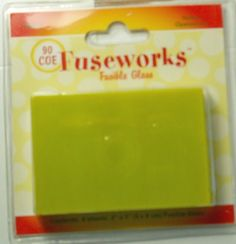 Fuseworks Opalescent 90 COE  2-Inch-by-3-Inch Fusible Glass, Yellow, 4-Pack Fused Glass Supplies, Yellow, Desserts, Food, Tailgate Desserts, Deserts, Essen, Postres, Meals