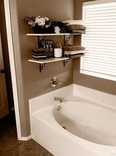 Bathroom Shelves @ Home DIY Remodeling