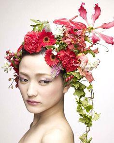 #花 #フラワーアート #アップスタイル #hair #flower