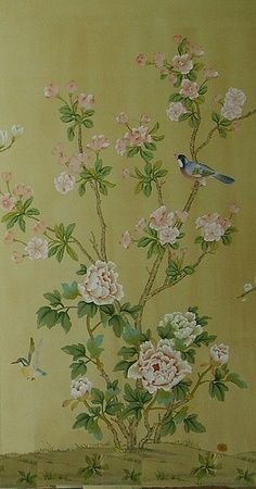 Chinoiserie Wallpaper on WallpaperSafari Chinoiserie Wallpaper, Chinoiserie Chic, Fabric Wallpaper, Oriental Wallpaper, Butterfly Wallpaper, Cool Walls, Colour Schemes, Designer Wallpaper, Chinese Art