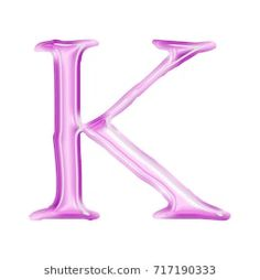 Pink glass style uppercase or capital letter K in a illustration with a soft light purple color and smooth plastic surface effect in a jagged font isolated on a white background with clipping path. Soft Light, Light Purple, Sri Ram Photos, Alphabet Letters Images, Letter K Design, Fashion Photo, Royalty Free Stock Photos, Fonts, Surface