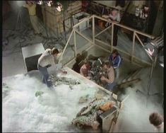 SPACE 1999 - On set, filming the Eagle Transport