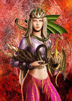Daenerys  Targaryen and her dragons BY AMOKA