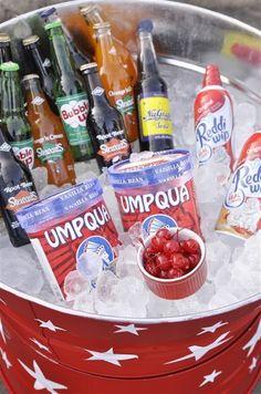 Fourth of July and Ice Cream Soda Bar