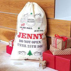 Personalised Christmas Sack - personalised