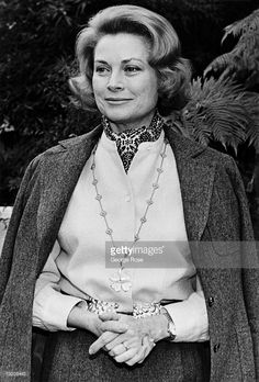 Princess Grace of Monaco, the former Academy Award-winning actress Grace Kelly, Bel Air, California, 1978.