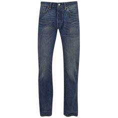 Levi's Men's 501 Original Fit Jeans - Burnt Red featuring polyvore men's fashion men's clothing men's jeans blue