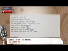 A Day In Life - The Beatles Vocal Backing Track with chords and lyrics