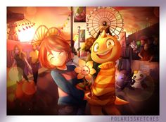 """polarissketches:  """"  Commissions for @wolven0ne-universe for his FanFic Undertale: Long Road  It takes place roughly a year after Undertale, and revolves largely around Flowey receiving medical treatment from Alphys to gradually restore his soul over..."""