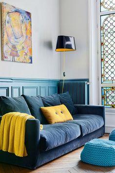 appartement parisien hausmannien gai et coloré Inside Out via Nat et nature