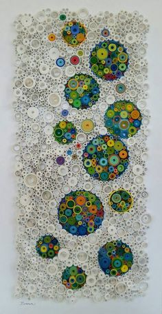 """Collage, """"The Champagne and The Stars"""" - Saatchi Art Artist Laurie Brown; Collage, """"The Champagne and The Stars"""" Der DIY-Wahnsinn ( - Arte Quilling, Quilling Paper Craft, Quilling Designs, Paper Crafts, Paper Glue, Recycled Magazine Crafts, Bottle Cap Art, Bottle Top, Plastic Bottle Caps"""