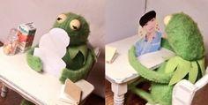 Kermit (Sapo Caco) and Zhang Yixing / Lay EXO