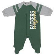 Newborn Green Bay Packers  Green Sleep & Play Bodysuit