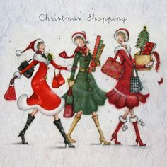 Cards » Christmas Shopping » Christmas Shopping - Berni Parker Designs