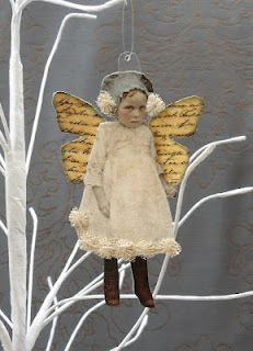 Maygreenfairie - altered fairy Something fun to do with Vintage photos! Isn't this just adorable?!