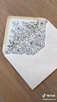 Cool Art Drawings, Doodle Drawings, Doodle Art, Mail Art Envelopes, Pen Pal Letters, Envelope Art, Ideias Diy, Pen Art, Art Lessons