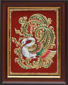Tanjore Paintings - Peacock1