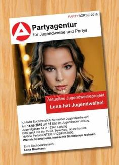 Einladung Einladungskarten Jugendweihe originelle 57 - Bild vergrößern