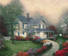 Home is Where the Heart Is. Painted by Thomas Kinkade. http://www.thomaskinkade.com/magi/servlet/com.asucon.ebiz.catalog.web.tk.CatalogServlet?catalogAction=Product&productId=253&menuNdx=0