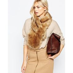 Oasis Faux Fur Tippet ($33) ❤ liked on Polyvore featuring accessories, scarves, neutral, faux fur scarves, short scarves, fake fur shawl and faux fur shawl