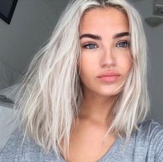 hair highlights blue platinum blonde hair color ideas grey hair messy hair straight hair hair color i. Platinum Blonde Hair Color, Silver Blonde Hair, Blonde Hair Looks, Platnium Blonde Hair, Messy Blonde Hair, Ice Blonde, Silver Platinum Hair, Short Platinum Hair, Lilac Hair