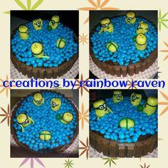 Minion pool party cake