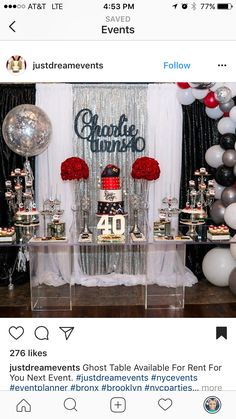 golden birthday ideas for adults 30926 40th Birthday Decorations, 40th Birthday Parties, Birthday Bash, Birthday Ideas, Birthday Surprise For Husband, Chanel Birthday Party, Black Gold Party, Golden Birthday, Centerpiece Decorations