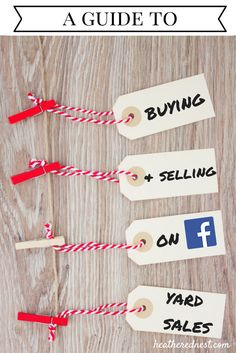 How to use Facebook yard sale sites and garage sale sites to buy and sell!  Make $ on Facebook (via Heathered Nest).