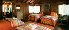 Interior of the Orange Cabin at Westerbeke Ranch