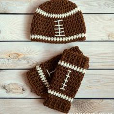 Football Set from Illumikniti Designs | Mad Mad Makers | https://www.etsy.com/ca/listing/185233632/football-beanie-and-leg-warmers-set?ref=shop_home_active_2