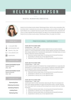 Resume Template 3 page  CV Template  Cover Letter for MS