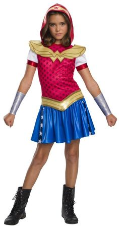Kids Wonder Woman Hoodie Dress - DC Comics  Get 10% off Your Next Purchase License: DC Super Hero Girls   Shop 1000 of costumes for mens womens and kids for any season!  #costume #costumeaccessories #costumeparty #nightlife #sale #costumes #theather #plays https://halloweenempireonline.com/product/kids-wonder-woman-hoodie-dress-dc-comics/