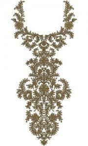 10104 Neck Embroidery Design