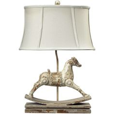 <3 this just for me, or if we ever have a baby girl for her nursery - Rocking Horse Table Lamp from the Nutcracker event at Joss and Main!