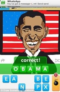 A picture of President Obama on Draw Something Us Election, Drawing Games, Draw Something, My Drawings, Obama, Doodles, Messages, World, Funny
