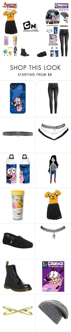 """CARTOON NETWORK (Adventure time, Courage the cowardly dog)"" by stephtile ❤ liked on Polyvore featuring H&M, Armani Jeans, Wet Seal, TOMS, Dr. Martens, BERRICLE, BCBGMAXAZRIA, Casetify, adventuretime and couragethecowardlydog"