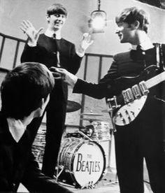 1963 - George Harrison, Ringo Starr and John Lennon.