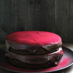 Supersaftig sjokoladekake med rødbeter